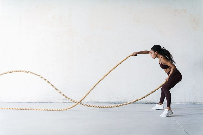 Both battle ropes and running are great ways of getting your daily cardio in, with neither one specifically being better than the other. We recommend that you always have a good balance if you can choose, but to at least always include one if you have no choice in the matter. Whatever you do, please never skip a cardio day; that is how you get all muscles and all fat!